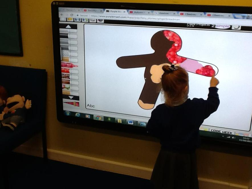 We can use the Interactive whiteboard