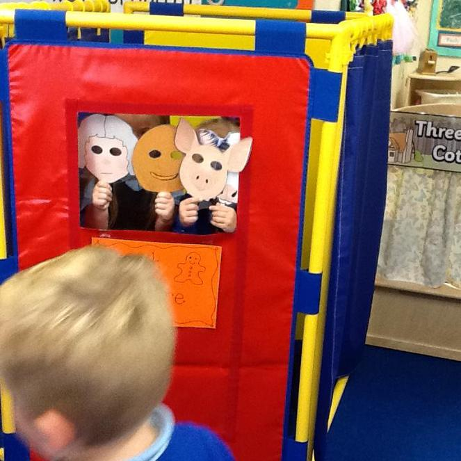 Gingerbread man puppet show