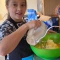 Elizabeth hard at work in the kitchen again!