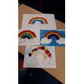 We all decorated rainbows.