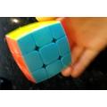 Megan's mastered the rubik's cube!