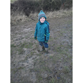 A wet and muddy walk