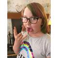 Summer's new rainbow hair colour