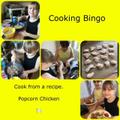 Freya completing the cooking bingo challenge
