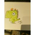 Megan's Gregosaurus #DrawWithRob