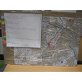 Map of Nottingham with key landmarks