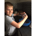 Harry busy baking