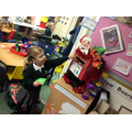 Posting cards in our Christmas post box