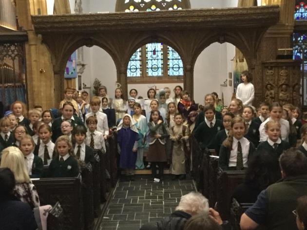 KS2 Carol Service in the Church