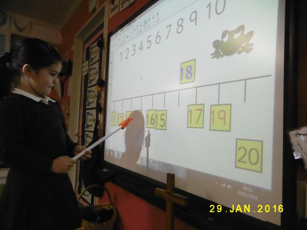 Ordering and recognising numbers up to 20.