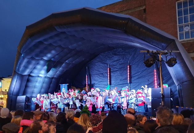 Our Choir singing in Taunton