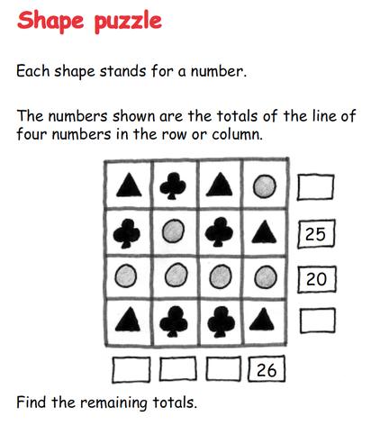 Shape Puzzle - Algebra