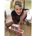 Miles' card tower