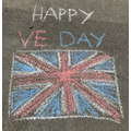 Abi & Emily celebrating VE Day