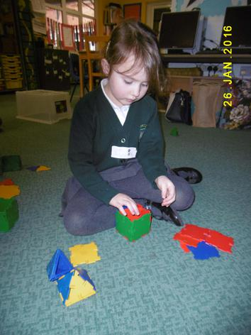 Making 3D shapes. Nice cube!