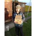 William's homemade bird box