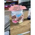 Ellie's good vibes jar