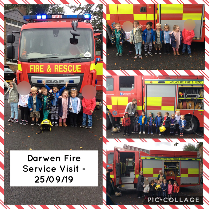 This term we have been covering People who help us and have selected several resources to support this. We were extremely lucky to have a visit from the Fire Brigade . The children were so excited and were so well behaved!  The fire fighters told us all about the fire engine, firstly they turned on the engine and showed us the blue flashing lights. The fire engine was a little bit noisy and we talked about how the flashing lights help people to see that the fire engine is coming towards them. We then walked around the back of the fire engine and we were allowed to hold the hose and turn it on to spray it (if we wanted to). It was very exciting and some children even tried on the special helmet that fire fighters wear to protect their heads and faces. The children were very keen to get involved and some even jumped onto the fire engine to have a look inside! We then waved goodbye to the fire engine and listened to the noisy sirens as the engine drove off, it was a wonderful experience!  When we got back into nursery we enjoyed talking about the fire fighters and fire engine and have even learned some special songs and Makaton signs to support this! Well done everybody!