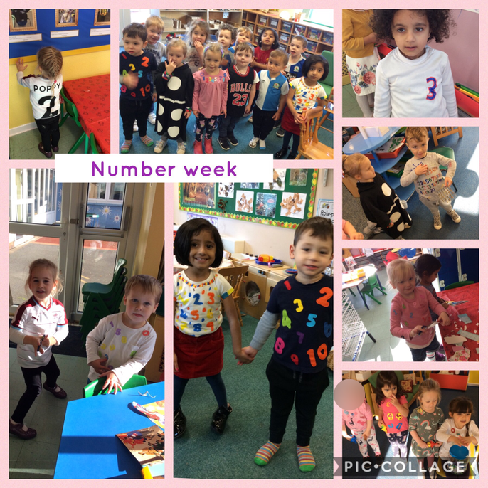Thank you to those who took part in our number week in nursery. The children had a fantastic week at nursery. We took part in lots of different activities including dressing up in a number themed outfit, baking, counting, measuring and we also sang lots of number themed songs.  Well done everybody!
