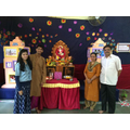 Gauri, Kausha, Tanuja and Deepak at school.