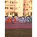 Republic Day dance- note Indian flag colours..