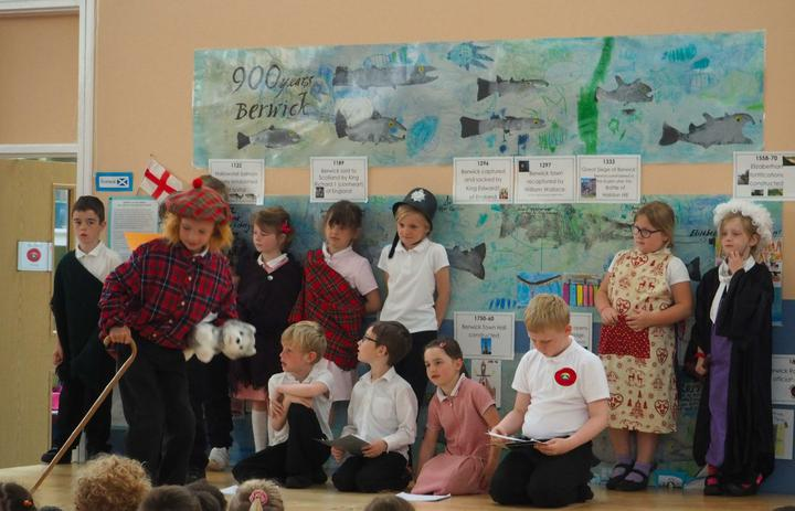 Class 2 acted out the story of Greyfriars Bobby