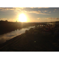 It's sunrise as we leave Berwick.