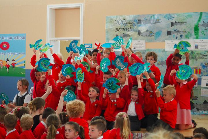 Class 1 recited a fishy poem