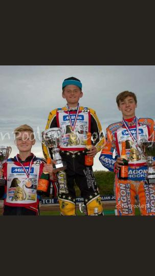 Leon is a  250 cc speedway champion!