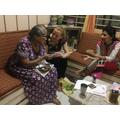 Grandmas share the family home.