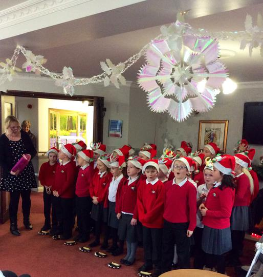 Singing to residents of Hillside Lodge Care Home