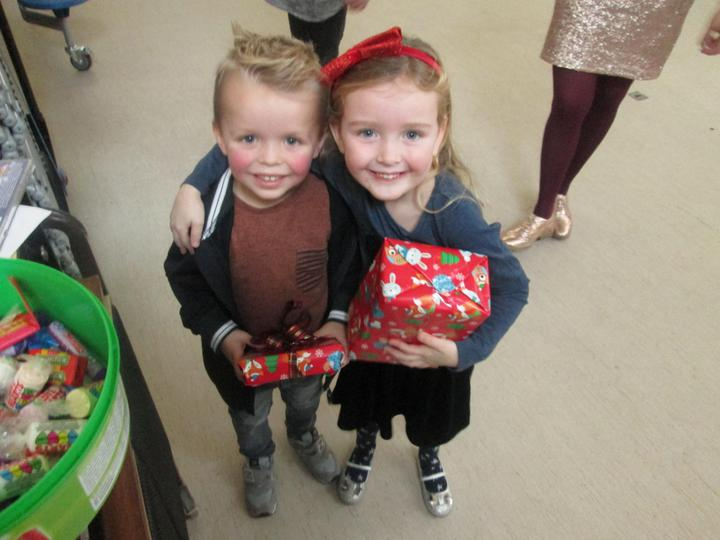 Winners from pass the parcel