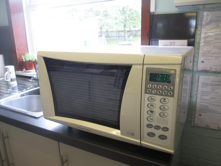 Cooking our snack in the microwave