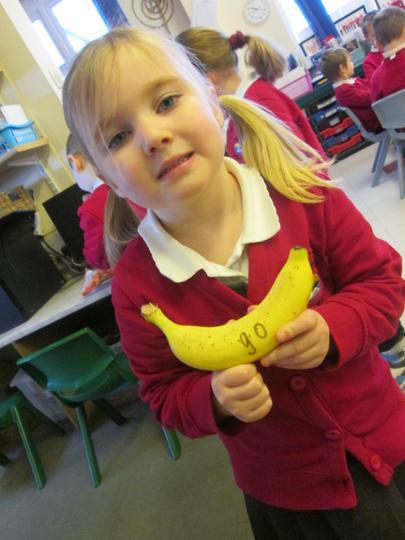Reading a banana!!