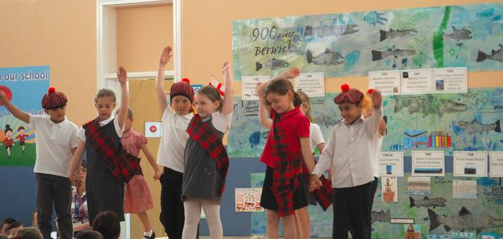 Class 2 performed a Scottish country dance