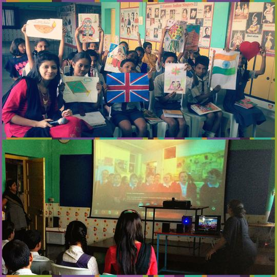 A Skype session with our partner school.
