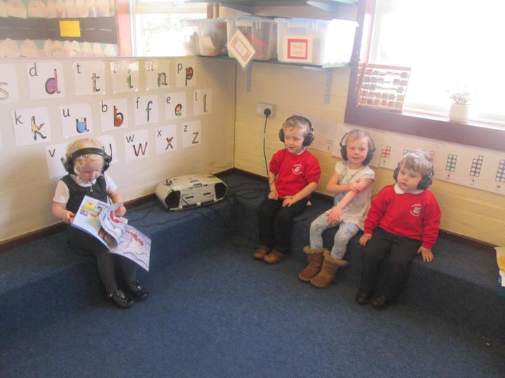 Listening to stories and rhymes