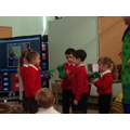 Pupils enjoy sharing the puppets from India.