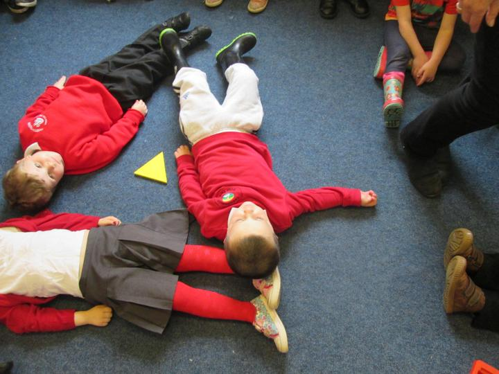 We needed three children to make a triangle