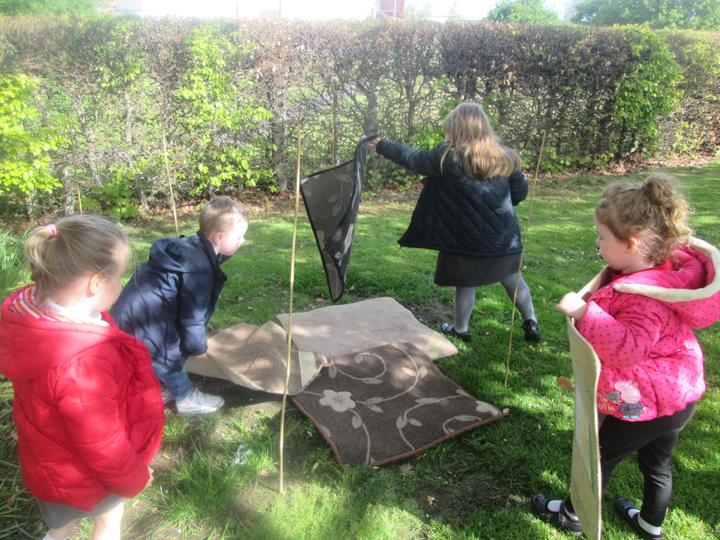 Working together to build a yurt