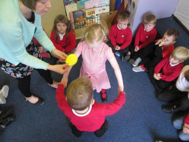 Making a circle with a partner