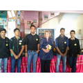 Recycling exhibition with art teacher and students