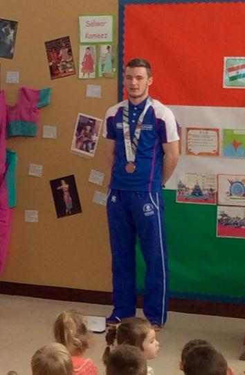 Cameron Tindle with his bronze medal
