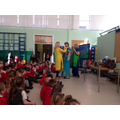 Miss Johnstone tries to wear a sari.