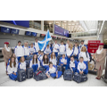 Team Scotland at Glasgow Airport.