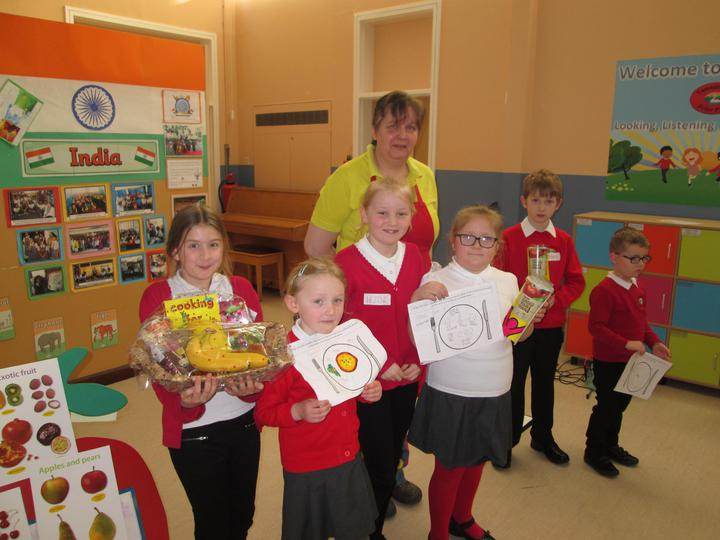 Winners of the healthy meal competition