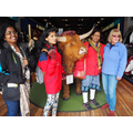 With a muckle coo! (Scottish Higland cow)