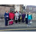 Setting off to walk around Berwick's walls