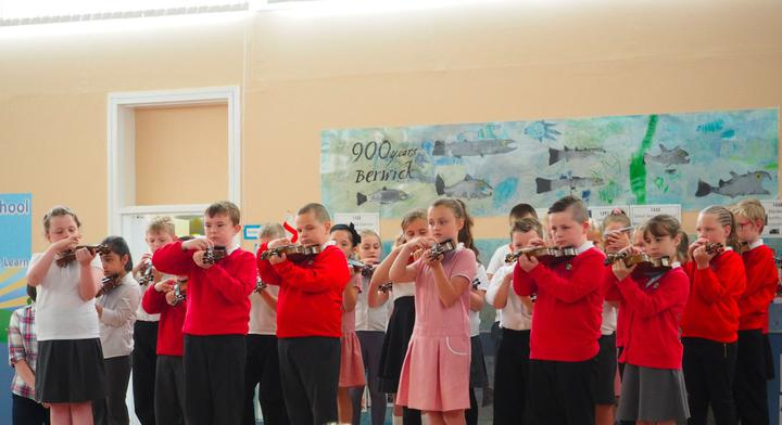 Class 4 performed some pieces on the violin