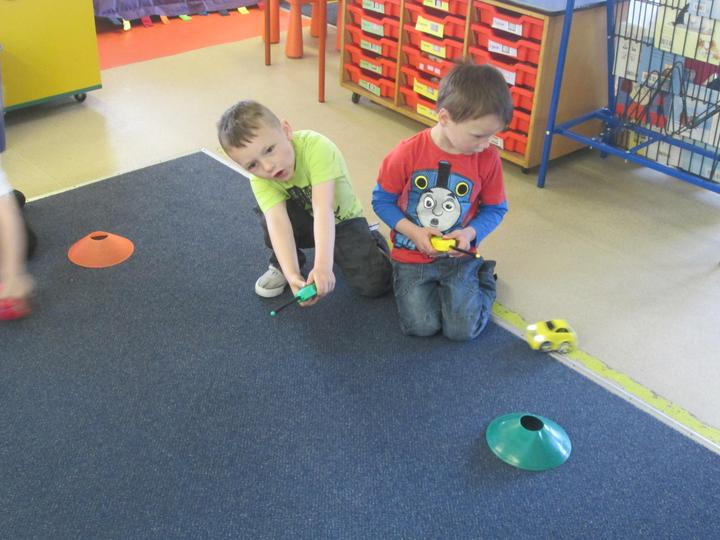Using remote control cars